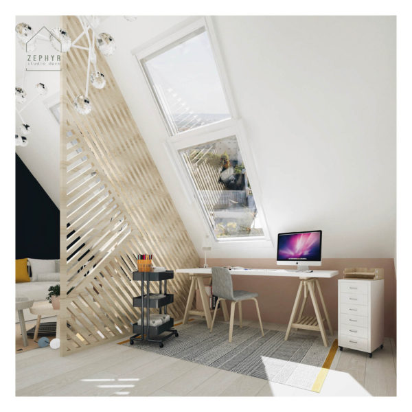 Aménagement d'une chambre sous les toits
