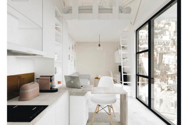 Un studio lumineux & fonctionnel