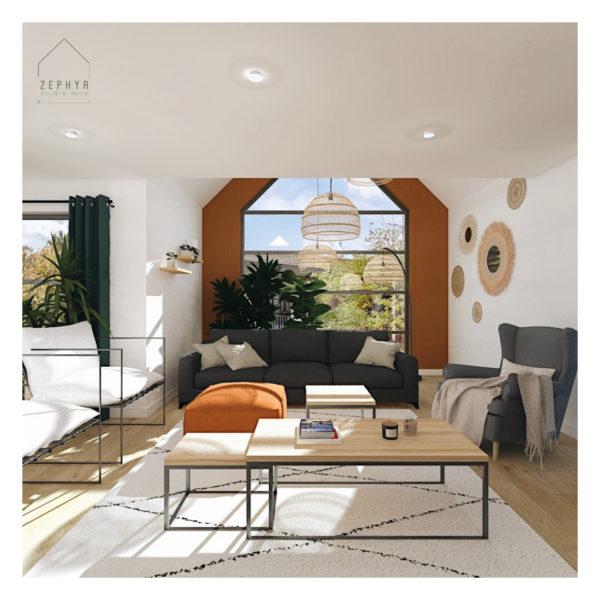Une pièce à vivre qui manquait de chaleur et de convivialité