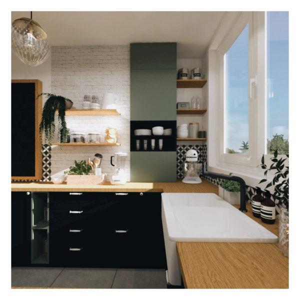 Une nouvelle cuisine ouverte, un peu vintage et très pétillante!